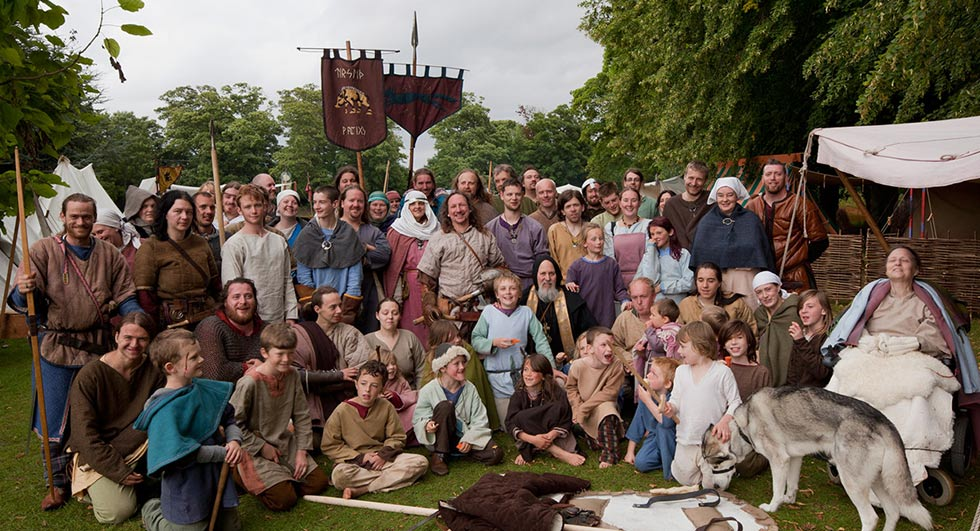 The Vikings of Middle England at Rockingham Castle in 2011. It's become something of a tradition to pose for a group shot at the end of an event in recent years!